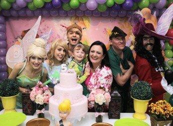 Peter Pan, Sininho, Capitão Gancho e Wendy